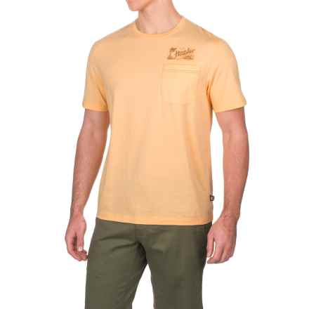 Howler Brothers Flocked Paradise Pocket T-Shirt - Short Sleeve (For Men) in Pale Yellow - Closeouts