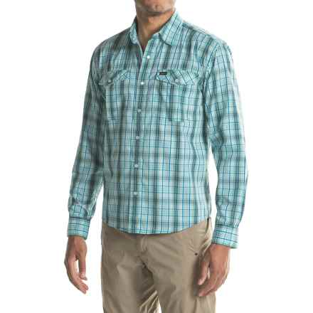 Howler Brothers Gaucho Snap-Front Shirt - Long Sleeve (For Men) in Drifter Plaid/Chesapeake Blue - Closeouts