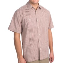 Howler Brothers Guayabera Shirt - Short Sleeve (For Men) in Picnic Plaid/Liberdad Red - Closeouts