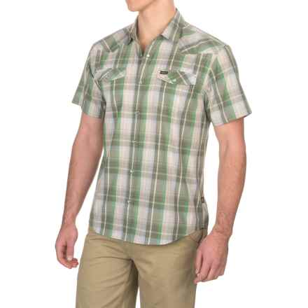 Howler Brothers H Bar B Snap-Front Shirt - Short Sleeve (For Men) in Cosmic Plaid/Green - Closeouts