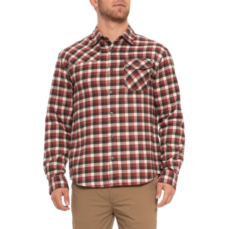 Howler Brothers Harkers Flannel Shirt - Long Sleeve (For Men) in Arturas Plaid/Red