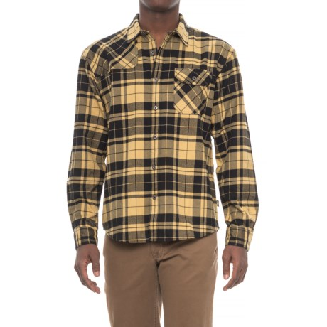 Howler Brothers Harkers Flannel Shirt - Long Sleeve (For Men) in Mueller Plaid/Cornflower