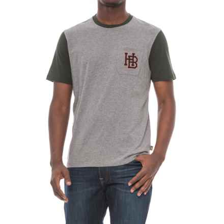 Howler Brothers HB Pocket T-Shirt (For Men) in Grey Heather/Black - Closeouts