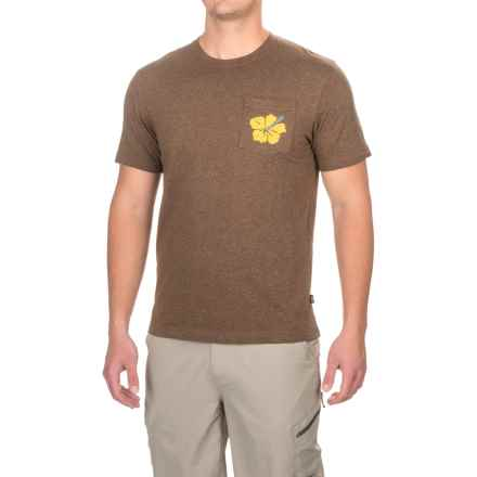 Howler Brothers Hibiscus Pocket T-Shirt - Short Sleeve (For Men) in Woodlands Heather - Closeouts