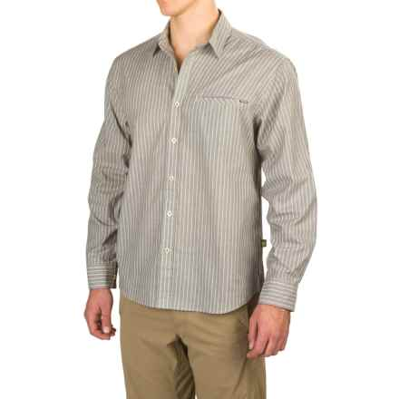 Howler Brothers Livingston Shirt - Long Sleeve (For Men) in Foam Grey Stripe - Closeouts