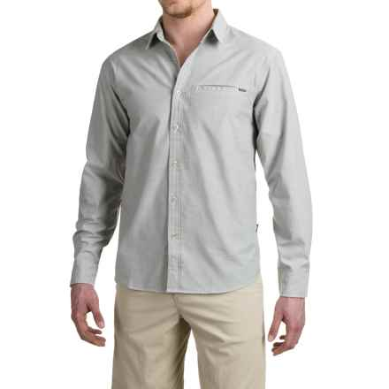 Howler Brothers Livingston Shirt - Long Sleeve (For Men) in Green Oxford - Closeouts