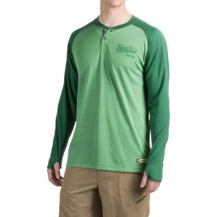 Howler Brothers Loggerhead Shirt - UPF 45, Long Sleeve (For Men) in Pine/Midnight Green - Closeouts