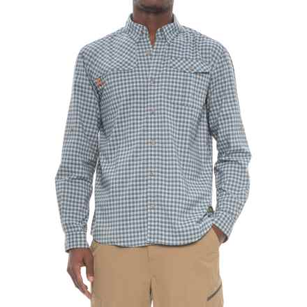 Howler Brothers Matagorda Shirt - Long Sleeve (For Men) in Yodeler Plaid/Byte Blue - Closeouts
