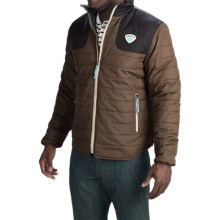 Howler Brothers Merlin Quilted Jacket - Insulated (For Men) in Whiskey/Cocoa - Closeouts