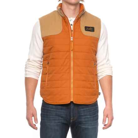 Howler Brothers Merlin Quilted Vest - Insulated (For Men) in Ember/Tan - Closeouts