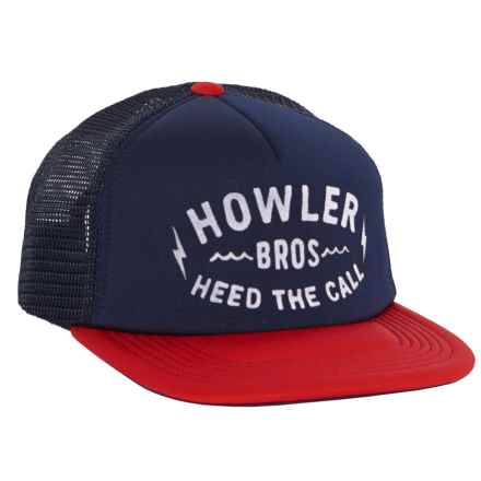 Howler Brothers Painted Howler Hat (For Men) in Navy/Red - Closeouts