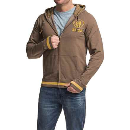 Howler Brothers Peacemaker Hoodie - Full Zip (For Men) in Havana Brown - Closeouts