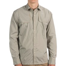 Howler Brothers Pescador Shirt - Long Sleeve (For Men) in Khaki Microstripe - Closeouts