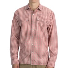 Howler Brothers Pescador Shirt - Long Sleeve (For Men) in Piscine Plaid/Volcano Red - Closeouts