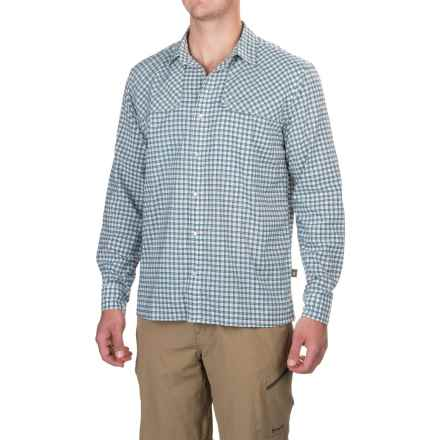 Howler Brothers Pescador Shirt - Long Sleeve (For Men) in Yodeler Plaid/Oceanside Blue - Closeouts