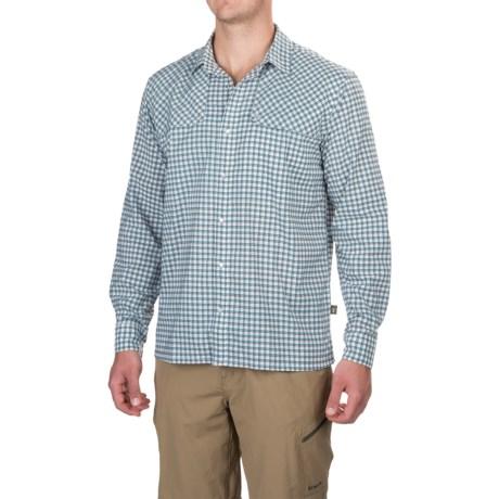 Howler Brothers Pescador Shirt - Long Sleeve (For Men) in Yodeler Plaid/Oceanside Blue