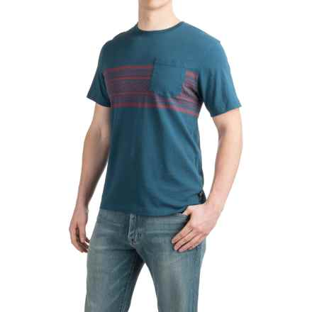 Howler Brothers Pinata Stripe T-Shirt - Short Sleeve (For Men) in Union Blue - Closeouts