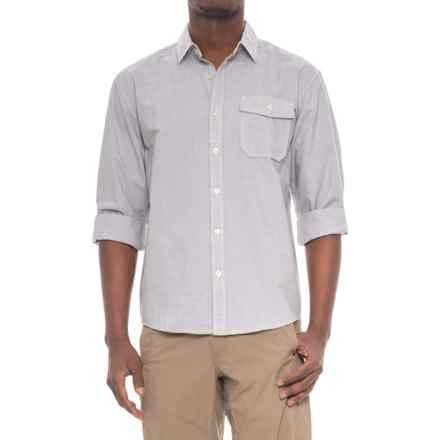 Howler Brothers San Gabriel Shirt - Long Sleeve (For Men) in Horizon Stripe Eider Grey - Closeouts