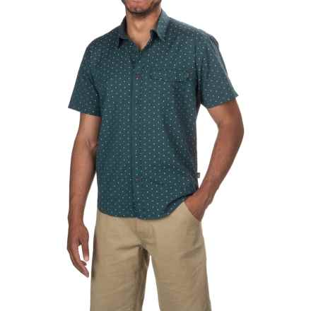 Howler Brothers San Gabriel Shirt - Short Sleeve (For Men) in Academic Dobby - Closeouts