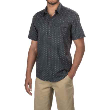 Howler Brothers San Gabriel Shirt - Short Sleeve (For Men) in Antique Black Dobby - Closeouts