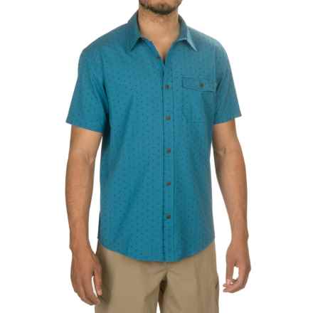 Howler Brothers San Gabriel Shirt - Short Sleeve (For Men) in Lapis Blue Dobby - Closeouts