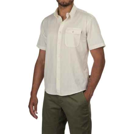 Howler Brothers San Gabriel Shirt - Short Sleeve (For Men) in Parchment - Closeouts