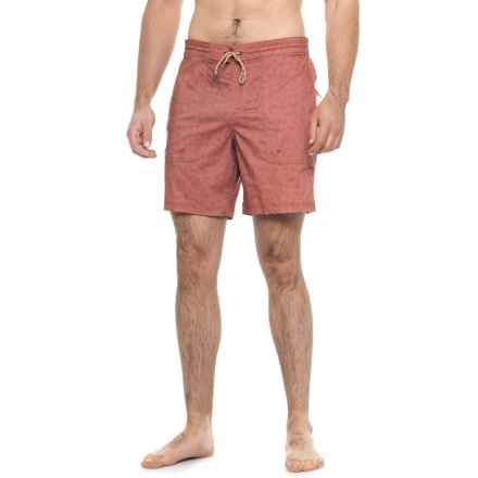 "Howler Brothers Sayulita Boardshorts - 7.5"" (For Men) in Relaxed Red - Closeouts"