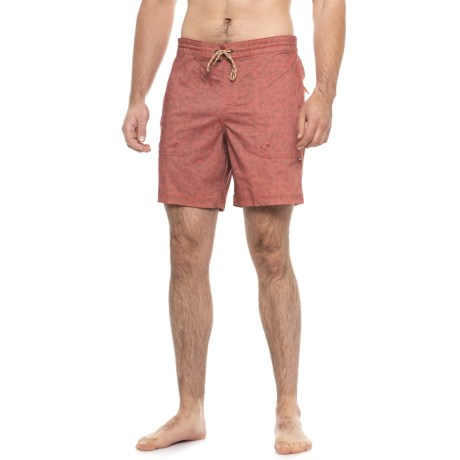 """Howler Brothers Sayulita Boardshorts - 7.5"""" (For Men) in Relaxed Red"""