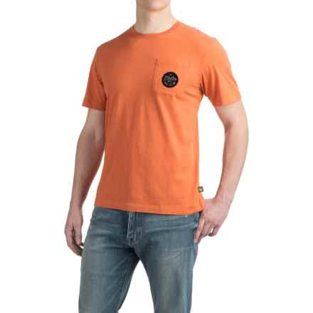 Howler Brothers Script Pocket T-Shirt - Short Sleeve (For Men) in High Orange - Closeouts
