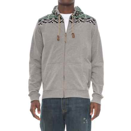Howler Brothers Shaman Hoodie - Full Zip (For Men) in Athlete Grey/Santos - Closeouts