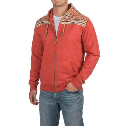 Howler Brothers Shaman Hoodie - Full Zip (For Men) in Red/Potosi - Closeouts