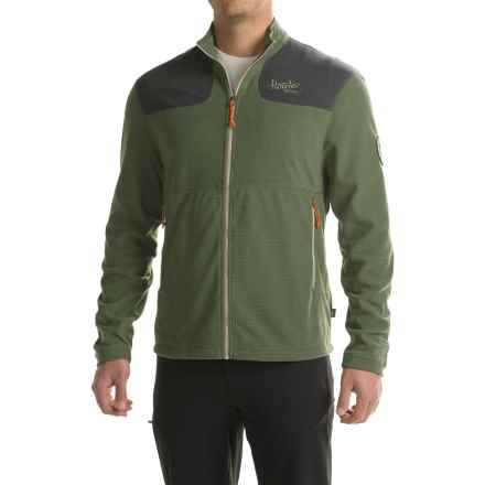 Howler Brothers Talisman Waffle Fleece Jacket (For Men) in Moss Green/Slate - Closeouts