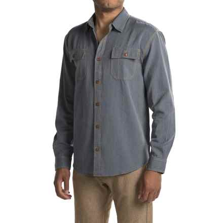 Howler Brothers Workman's Shirt - Long Sleeve (For Men) in Railroad Blue - Closeouts