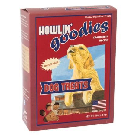 Howlin' Goodies Cranberry Dog Treats - 16 oz. in See Photo