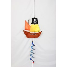 HQ Kites Decorative Wind Spinners in Pirate Ship Twist - Closeouts
