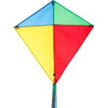 HQ Kites Eddy Traditional Diamond Kite in Classic Colors - Closeouts