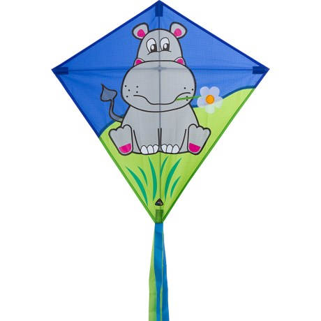 HQ Kites Eddy Traditional Diamond Kite in Hippo