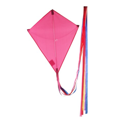 HQ Kites Eddy Traditional Diamond Kite in Pink