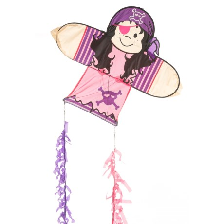 "HQ Kites Skymate Pirate Girl Easy-to-Fly Kite - 25x28"" in Pink/Purple"