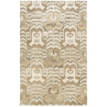 HRI Alden Collection All Natural Wool Rug - 8x11' in Light Grey/Natural - Closeouts