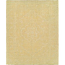 HRI Antique Natural Hand-Knotted Wool Area Rug - 5x8' in Gold/Ivory - Closeouts