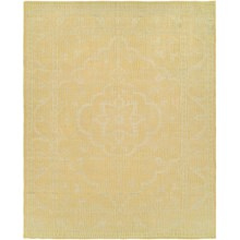 HRI Antique Natural Hand-Knotted Wool Area Rug - 8x10' in Gold/Ivory - Closeouts