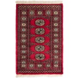 HRI Bokhara Collection Hand-Knotted Wool Accent Rug - 2x3'