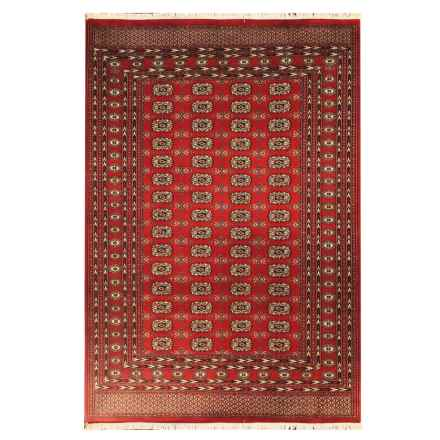 HRI Bokhara Collection Hand-Knotted Wool Area Rug - 9 x12' in 2 Red - Overstock