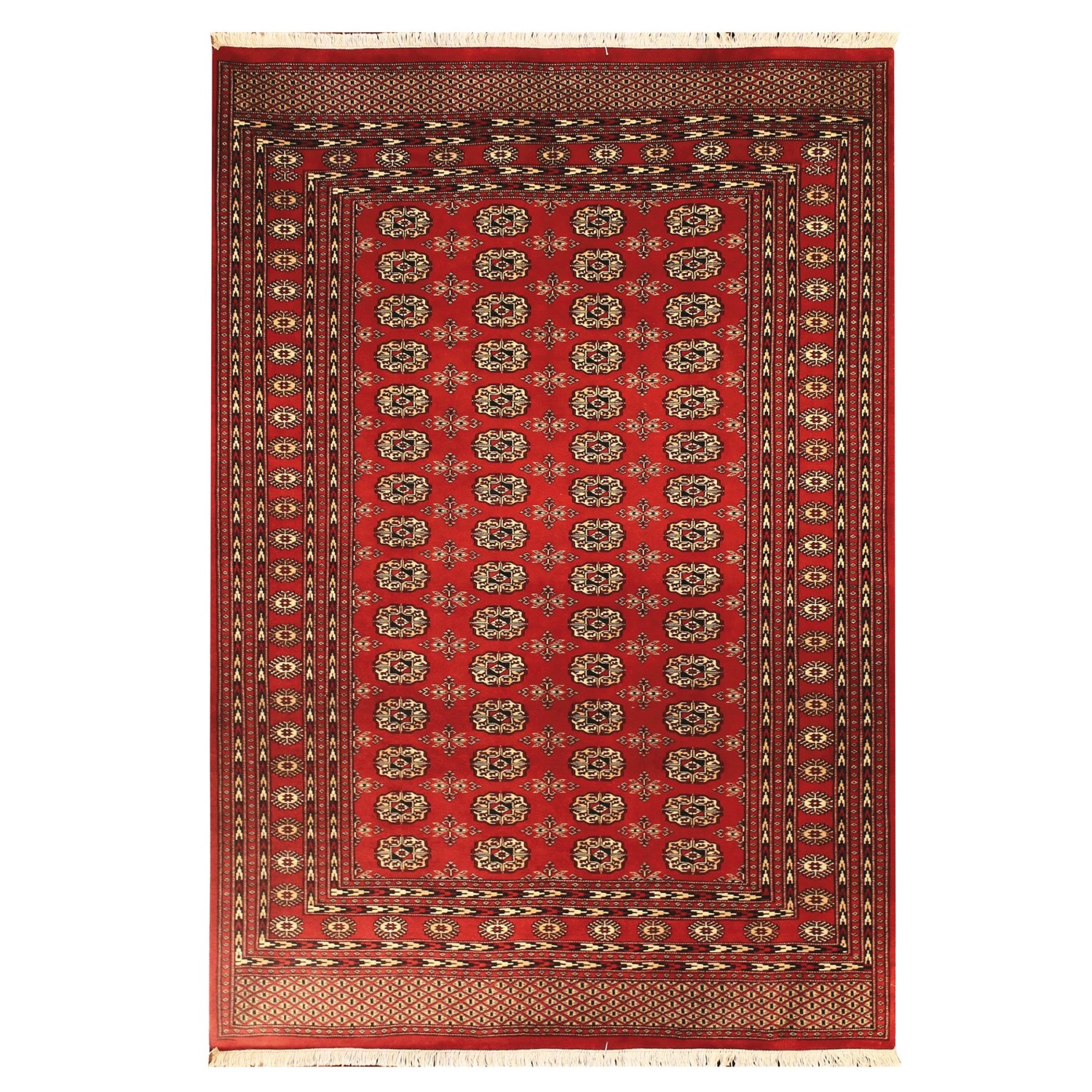 HRI Bokhara Collection Hand Knotted Wool Area Rug 9x12