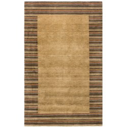 HRI European Collection Area Rug - 5x8', Hand-Loomed Wool in Brown