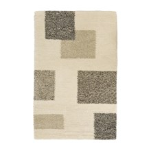 HRI Geometric Area Rug - 4x6', Wool in Ivory - Closeouts