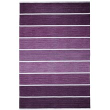 HRI Kabash Collection Reversible Area Rug - 8x10', Hand-Loomed Wool in Purple - Closeouts