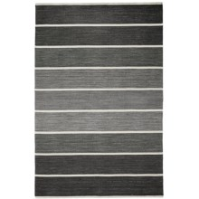 HRI Kabash Collection Reversible Area Rug - 9x12', Hand-Loomed Wool in Dark Grey - Closeouts