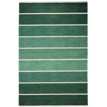 HRI Kabash Collection Reversible Area Rug - 9x12', Hand-Loomed Wool in Green - Closeouts